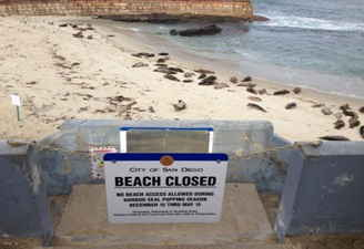 CASA BEACH CLOSURE SIGN